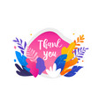 colorful leaves on white background thank you vector image vector image
