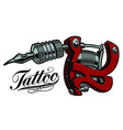 coloured a tattoo machine vector image vector image