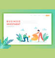 creative idea and business solutions landing page vector image vector image