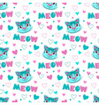 cute childish seamless pattern with funny cats vector image vector image