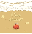 cute of crab and lettering on vector image vector image