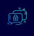 cyber security neon icon with blue background vector image