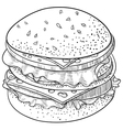 Doodle Cheeseburger vector image vector image