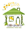 environmentally friendly house in cartoon style vector image