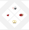 flat icon amour set of wings key shaped box and vector image vector image