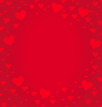 Frame border shaped from red heart on red vector image vector image