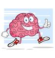 Funny Brain Cartoon vector image vector image