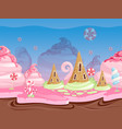 Game fantasy landscape seamless background with