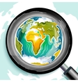 Global search doodle vector image vector image