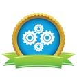 Gold new mechanism logo vector image vector image