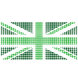Green United Kingdom Flag vector image vector image