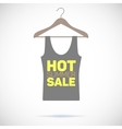 Hanger hot summer sale poster vector image