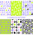 happy easter trendy seamless patterns vector image vector image