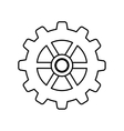 Isolated gear piece vector image vector image