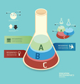 isometric colorful test tube infographic vector image vector image