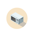 isometric of microwave oven 3d flat kitchen vector image vector image