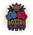 kings boxing dark blue vector image vector image