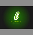 l alphabet letter logo green 3d company icon vector image vector image