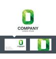 letter o - logo design vector image
