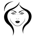 logo womans face vector image vector image