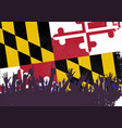maryland state flag with audience vector image vector image