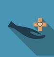 medic clean logo template design vector image