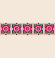 mexican floral embroidery border seamless pattern vector image vector image