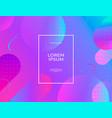 modern abstract banner set flat liquid blob vector image vector image
