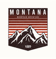 montana state t-shirt design with mountains vector image vector image