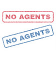 no agents textile stamps vector image vector image