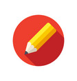 pencil stylish icon vector image vector image