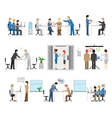 people working in an office vector image vector image