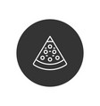 pizza icon in modern style for web site and vector image vector image