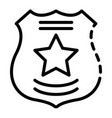 police emblem icon outline style vector image