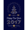 Poster Happy New Year 2017 Party flyer Christmas vector image vector image