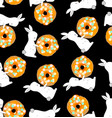 rabbits and donuts vector image