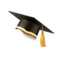 realistic mortar board hat education hat vector image