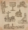 Religion around the World pack vector image vector image