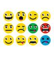 round smiles icon vector image vector image