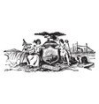 seal colonial new york vintage vector image vector image