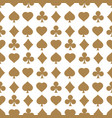 seamless pattern with card suits endless vector image
