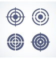 set simple abstract targets vector image