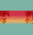 summer background design coconut tree vector image vector image