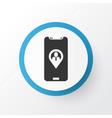 team location icon symbol premium quality vector image