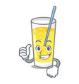 thumbs up lemonade character cartoon style vector image vector image