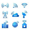 Wi-Fi glossy icons set vector image