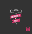 wine corkscrew logo wine bottles with screw vector image