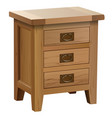 wooden bedside table vector image