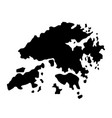 black silhouette country borders map of hong kong vector image