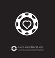 isolated hearts icon currency element can vector image